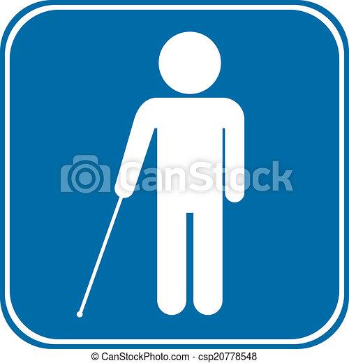 cego, sinal incapacitado - csp20778548