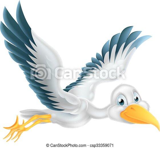 cegonha voando caricatura pássaro voando personagem ar