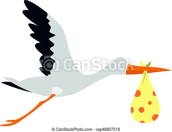 cegonha voando isolado pacote ícone apartamento voando