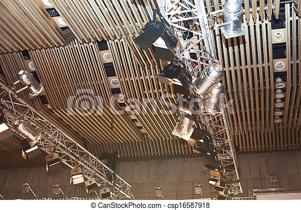 ceiling of exhibition hall - csp16587918