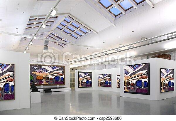 celý, umění, právě, kino, fotografie, 2., celek, chodba, filtred - csp2593686