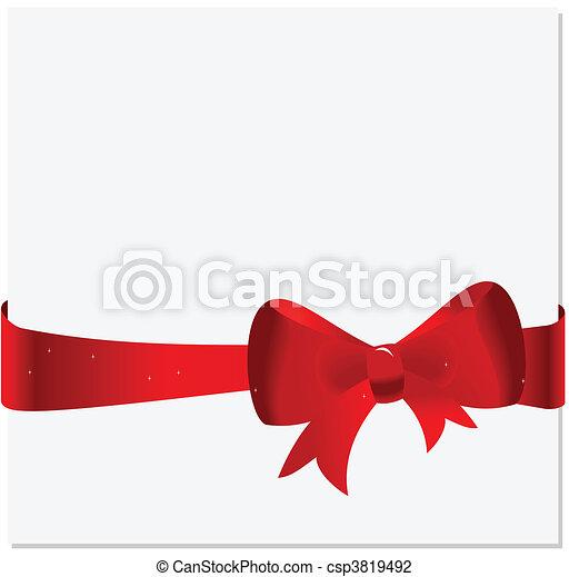 Tarjeta de celebración con cinta y arco - csp3819492