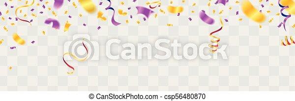 Un fondo colorido de celebración con confeti. - csp56480870