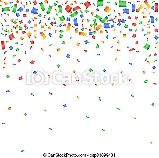 Un fondo colorido de celebración con confeti. - csp31899431