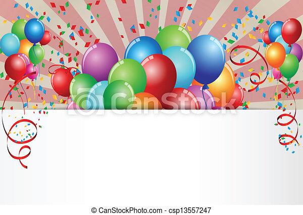celebración cumpleaños - csp13557247