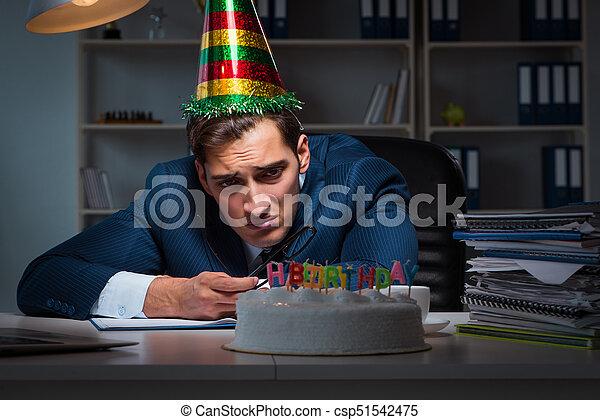 Celebrar Cumpleanos Oficina Hombre