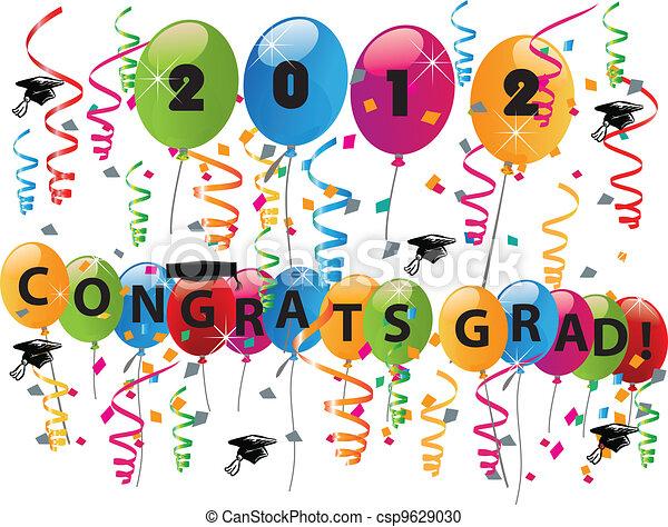 Celebrando el día de graduación - csp9629030