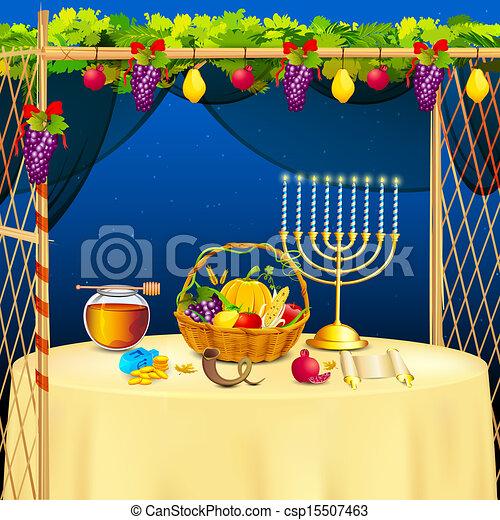 Sukkah para celebrar sukkot - csp15507463