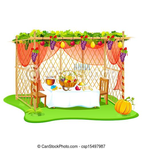 Sukkah para celebrar sukkot - csp15497987