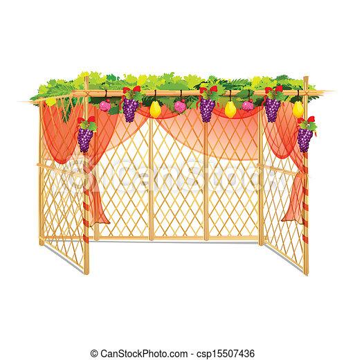 Sukkah para celebrar sukkot - csp15507436