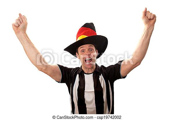 Fans del fútbol celebrando - csp19742002