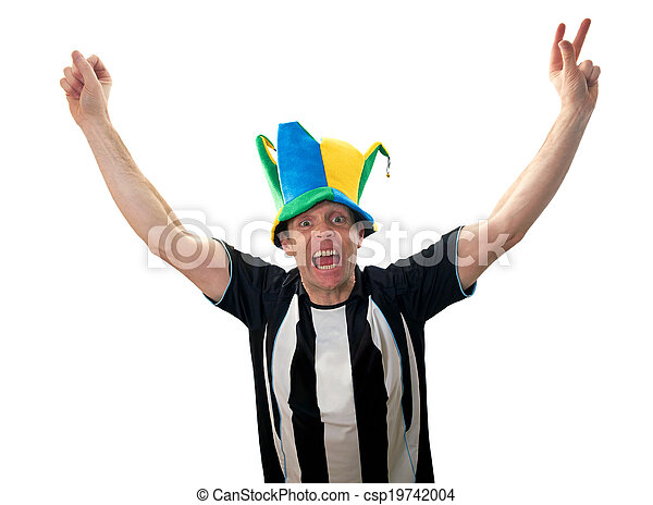 Fans del fútbol celebrando - csp19742004
