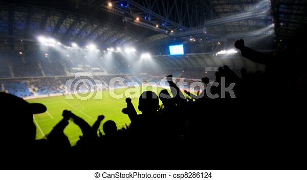 Fans celebrando gol - csp8286124