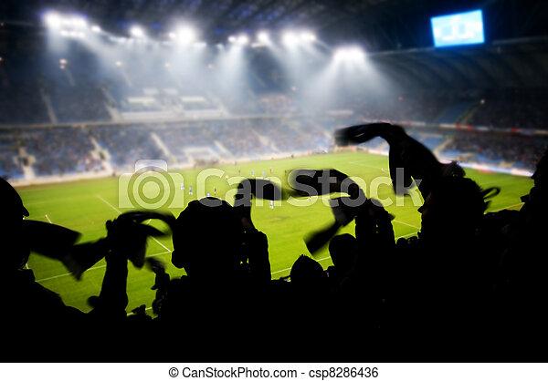 Fans celebrando gol - csp8286436