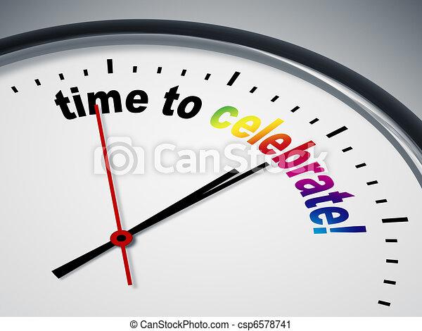 celebrare, tempo - csp6578741