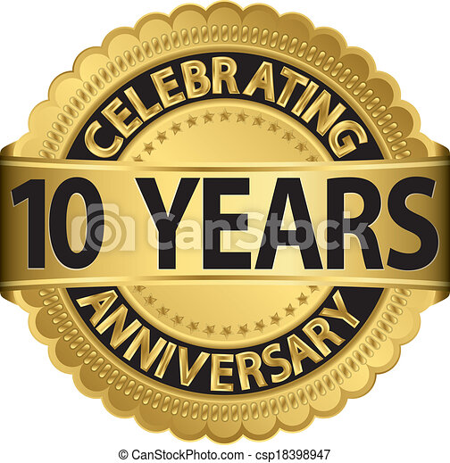 Celebrating 10 years anniversary go - csp18398947