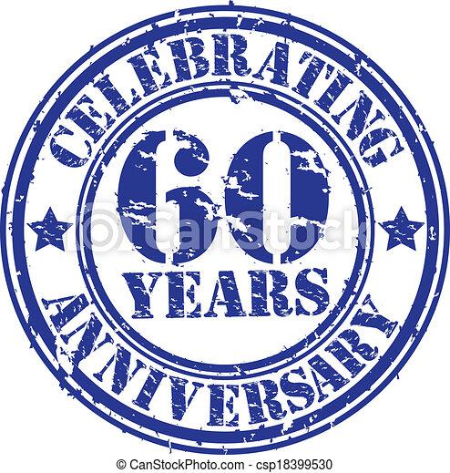 Celebrating 60 years anniversary gr - csp18399530
