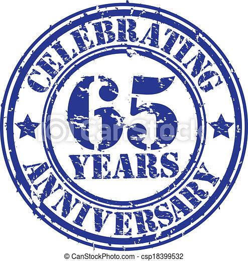 Celebrating 65 years anniversary gr - csp18399532