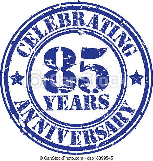 Celebrating 85 years anniversary gr - csp18399545