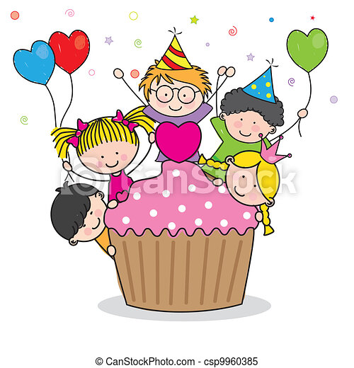 Celebrating birthday party - csp9960385