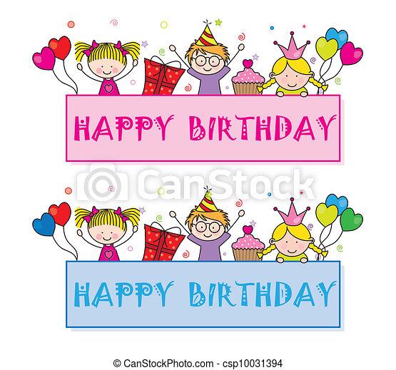 Celebrating Birthday Party Vector