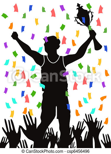 Celebrating Champion People Celebrating The Champion And Clip Art Vector Search Drawings
