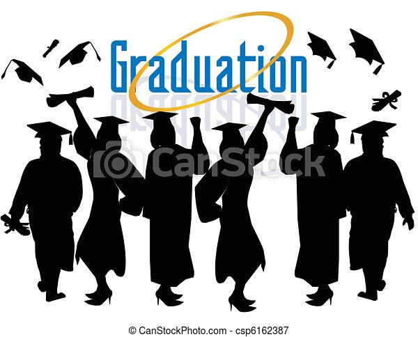 Un grupo de graduados celebrando... - csp6162387