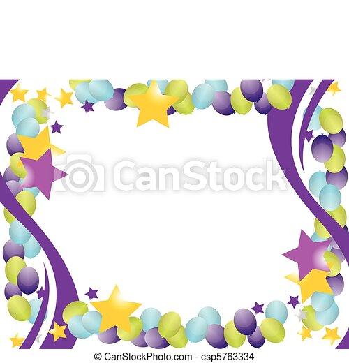 celebration balloon frame - csp5763334