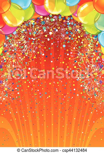 Celebration Birthday Backdrop. Vector Image - csp44132484