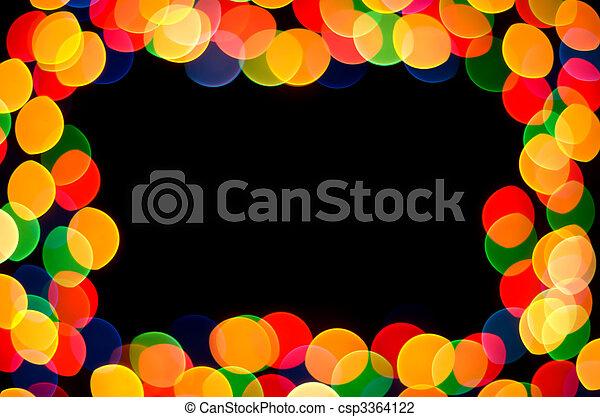celebration frame - csp3364122
