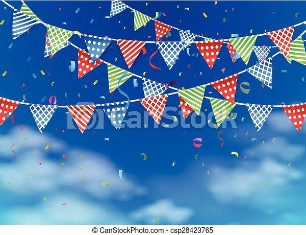 celebration on blue sky - csp28423765