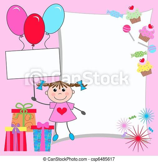 celebration or invitation card - csp6485617