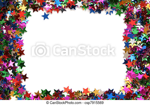 Celebration stars frame - csp7915569