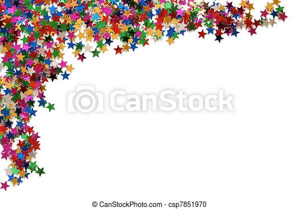 Celebration stars frame - csp7851970