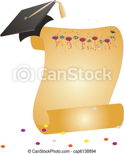 Celebraciones de graduación... - csp6138894