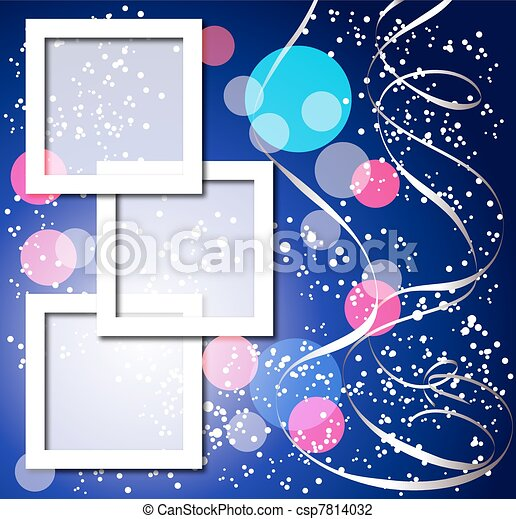Celebratory background with frames - csp7814032