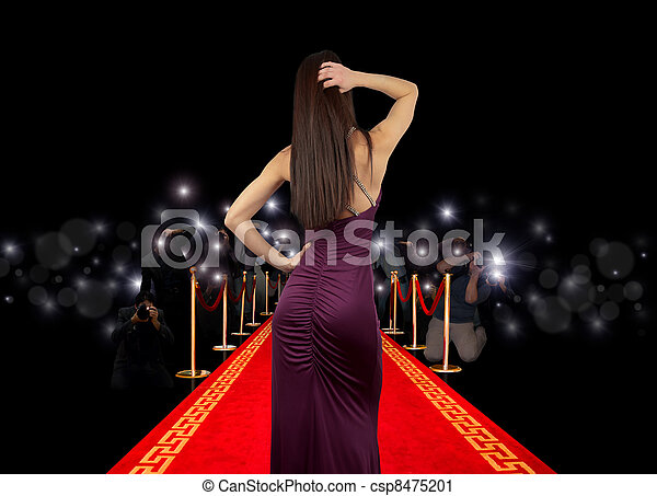 Celebrity on red carpet - csp8475201