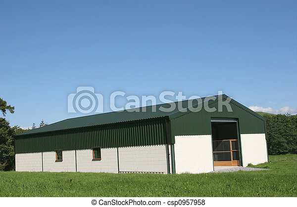celeiro, agrícola, novo - csp0957958