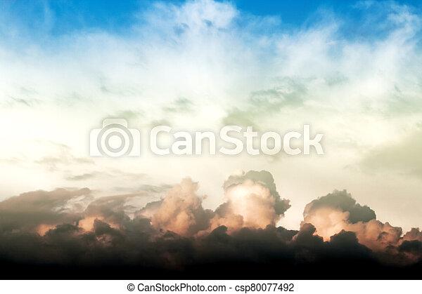 celeste, nubes - csp80077492