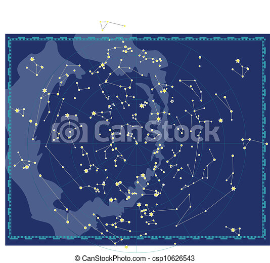 Celestial Map of The Night Sky - csp10626543