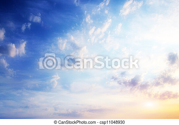 celestial, paisagem - csp11048930