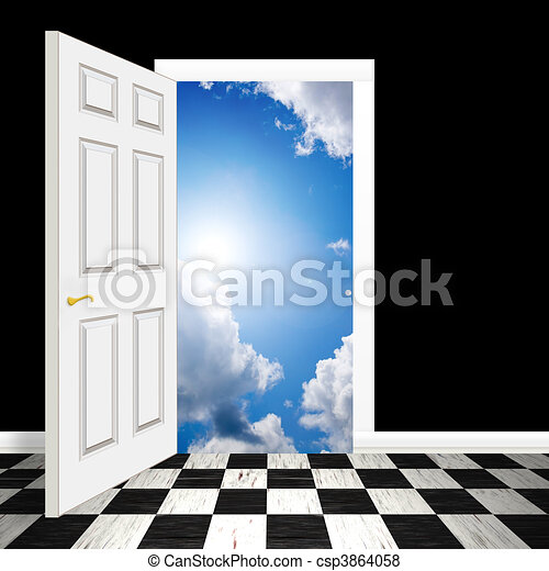 Puerta celestial - csp3864058