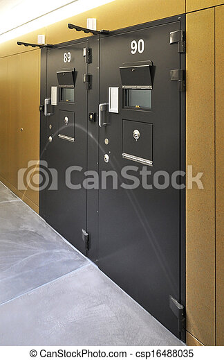 Cell door in a modern prison - csp16488035 & Cell door in a modern prison stock photos - Search Photographs and ...