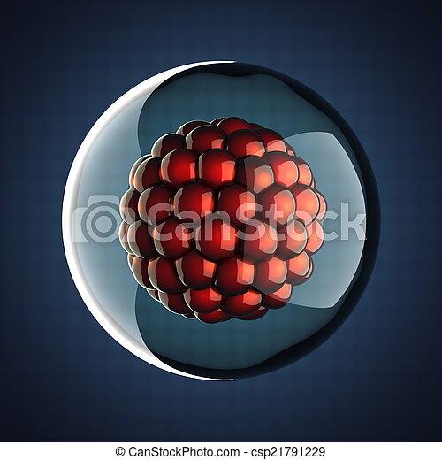 cell, mikro, vetenskaplig, illustration - csp21791229