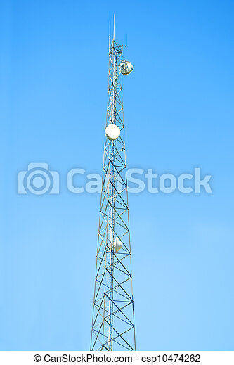 Cell phone antenna tower - csp10474262