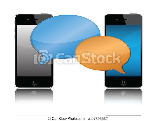 Cell phone communication - csp7308582