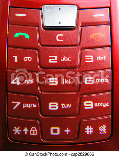 Cell Phone Keypad A Red Cell Phone Keypad With White Symbols