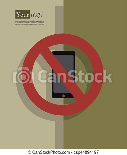 Cell phone no sign - csp44894197
