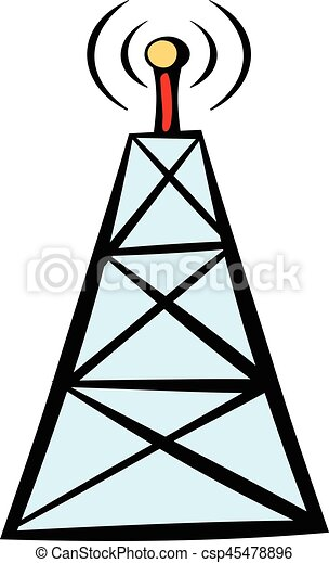 cell phone tower icon icon cartoon cell phone tower icon eps rh canstockphoto com Cell Tower Graphic Cell Tower Graphic