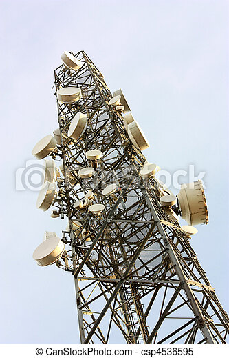 Cell phone transmitter base station tower - csp4536595